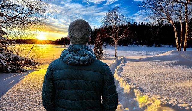 Muž, les, zima.jpg